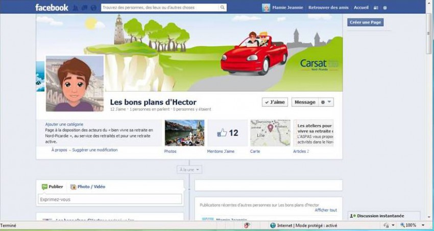 page Facebook Les Bons Plans d'Hector